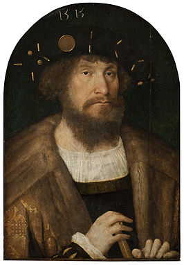 Christiaan II door Michel Sittow