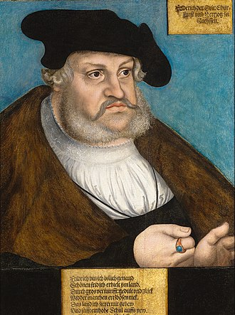 Frederick III, Elector of Saxony - Portrait of Frederick the Wise by Lucas Cranach the Elder. Circa 1530-1535