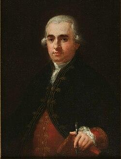 Portrait of Juan Agustín Ceán Bermúdez by Goya (c. 1785).jpg