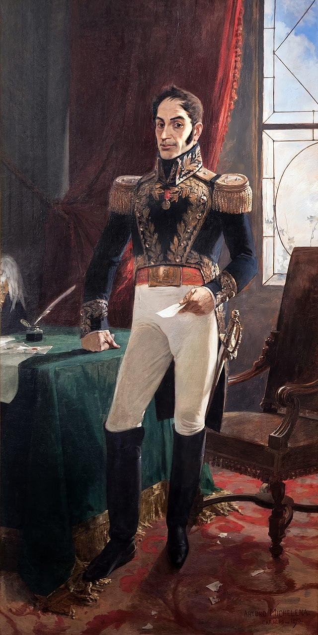 José Artigas. Dibujo de J. M. Blanes