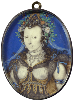 Portrait of a lady, dressed as Flora by Isaac Oliver