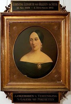 Portret Christina Elisabeth da Silva (1809-1881) door G Overman