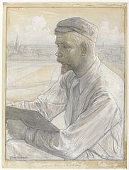 Portret van de kunstschilder Ferdinand Hart Nibbrig