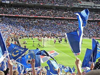 2009–10 FA Cup - The Portsmouth end of Wembley Stadium following their sides defeat in the 2009-10 final