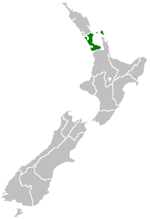 Auckland Region - Image: Position of Auckland Region