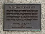 Post Office and Customs House, Post Office Lamp Posts plaque (cropped).jpg