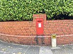 Post box on corner of Victoria and Clinton Road, Penarth, July 2018 (1).jpg