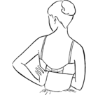 7. Put the brassiere on correctly for a better fit.