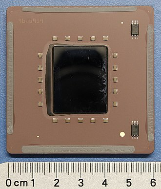 POWER7 - IBM Power7 4ghz 8-way CPU (de-lidded) from an IBM 9119