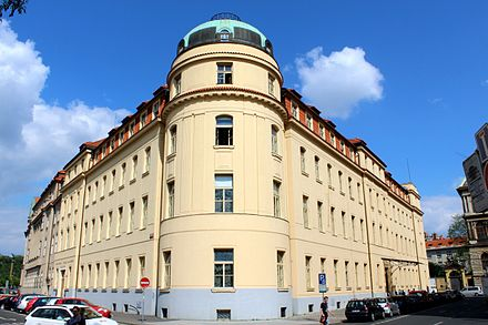Main building of the Prague Conservatory Prazska konzervator roh 2.jpg