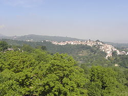 Panorama of Prata from the hills on the right bank of the Sabato river