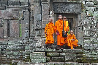 Buddhism in Cambodia - Adolescent monks in Cambodia