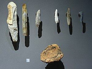 Tool - Prehistoric stone tools over 10,000 years old, found in Les Combarelles cave, France
