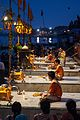 Preparation of Ganga aarti at Dasaswamedh Ghat, Varanasi 02.jpg