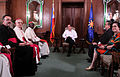 President Aquino with Robert Cardinal Sarah during the courtesy call at the Music Room of Malacañan Palace.jpg