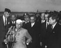 President John F. Kennedy, Prime Minister of India Jawaharlal, and Others During Arrival Ceremonies.jpg