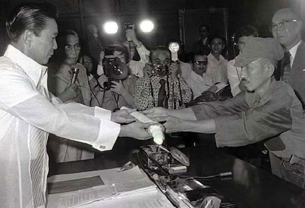 President Marcos and Hiroo Onoda