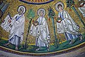Procession of the Apostles. First left - Saint Peter. Part of the mosaic in Arian Baptistery. Ravenna, Italy.jpg
