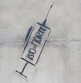 Involuntary treatment - Protest graffiti against Involuntary treatment, Turin; TSO = MORTE means Involuntary treatment = Death