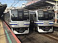 Prototype of Series E217 Y-1 and Y-2 in Tsudanuma Station.jpg