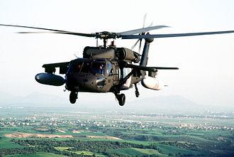 1994 Black Hawk shootdown incident - An OPC Eagle Flight Black Hawk with external fuel tanks