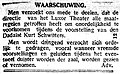 Provinciale Noordbrabantsche en 's-Hertogenbossche Courant vol 1923 no 019 advertisement Waarschuwing.jpg