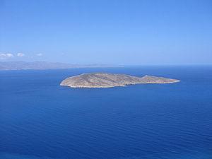 Pseira - Pseira: View from the coast of Crete near Platanos