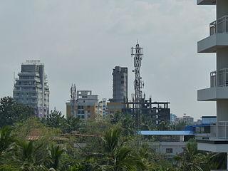 Punkunnam Suburb in Thrissur, Kerala, India