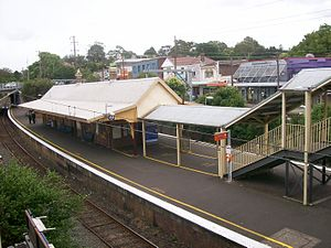 Pymble railway station - Northbound view