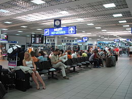 Waiting room in terminal A in Katowice International Airport