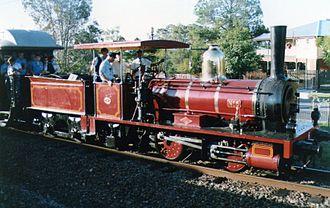 Queensland A10 Neilson class locomotive - N° 6 on its first trip after restoration 1991