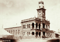 Queensland State Archives 2326 Warwick Town Hall with horse and cart 1897.png