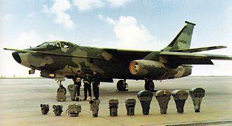 Douglas A-3 Skywarrior - Camera arrangement of a camouflaged RA-3B of Heavy Photographic Squadron 61.