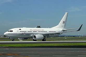 Royal Australian Air Force - A Royal Australian Air Force 737BBJ taxies at Sydney Airport