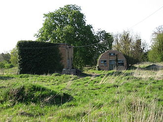 Fowlmere - Derelict buildings on the site of the former RAF airfield