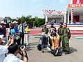 ROCA Sergeant Major Haung Interviewing by Mass Media 20131012a.jpg