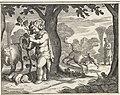 RP-P-1886-A-10528 Bacchus en Ampelus, Pieter Serwouters, after Jacob Matham, 1616 - 1657 Rjksmuseum.jpg