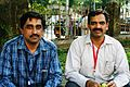 Rahul and Mandar during WikiConference India 2011.JPG