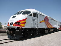 New Mexico Rail Runner Commuter Train, visitin...