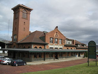 Binghamton, New York - Former DL&W Station, part of the Railroad Terminal Historic District