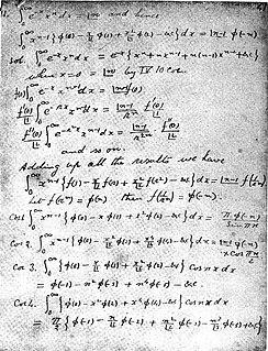Ramanujans master theorem