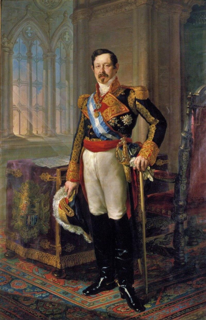 Retrato del militar y y político español Ramón María Narváez.