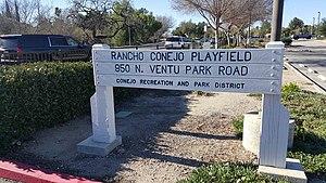 Rancho Conejo Playfields - Image: Rancho Conejo Playfields Newbury Park Arroyo Conejo Open Space Thousand Oaks