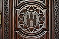 Rathaus Hamburg crest wood carving.JPG