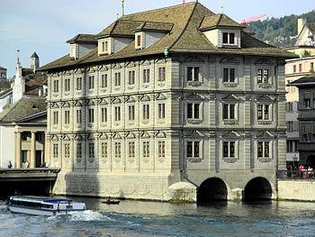 Rathaus Zürich - Limmat - Wühre 2012-09-17 17-20-11 (P7000).jpg