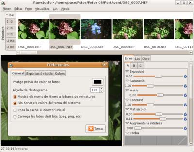 Rawstudio 1.0 en català