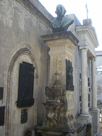 Antonio Zinny - Tomb of the author in the cemetery of La Recoleta