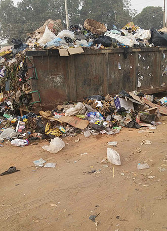 Aba, Abia - Refuse Skip at Osisioma Junction