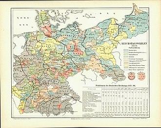 German federal election, 1893 - Image: Reichstagswahlkarte 1893 1898