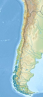 Map showing the location of Puyehue National Park